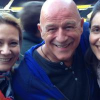 Pamela Grün, Alexander Goebel (Schauspieler und Sänger) und Radio Wien Kollegin Carola Gausterer